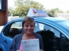 Amy passed with Francos Driving School