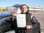 Antonio passed with Francos Driving School