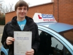 Ashley passed with Francos Driving School