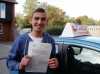 Connor passed with Francos Driving School