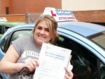 Danielle passed with Francos Driving School