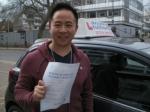 Derek passed with Francos Driving School