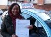 Doris passed with Francos Driving School