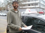 Hamza passed with Francos Driving School