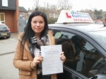 Indre passed with Francos Driving School