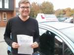 Jonathan passed with Francos Driving School