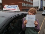 Kate passed with Francos Driving School