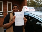 Katrina passed with Francos Driving School