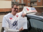 Luke passed with Francos Driving School