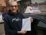 Mehdi passed with Francos Driving School