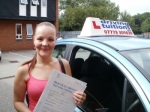 Nikki passed with Francos Driving School