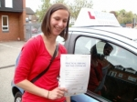 Patricia passed with Francos Driving School