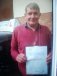 Peter passed with Francos Driving School