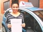 Sabrina passed with Francos Driving School