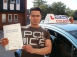 Syed passed with Francos Driving School