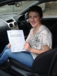 Amy Palk passed with Freedom Driver Training