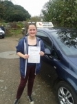 Libbie Goult passed with Freedom Driver Training