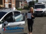 kayleigh passed with Freedom School of Motoring