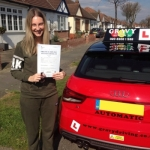 AMBER (SIDCUP) passed with Gravy Driving School