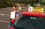 Catherine (Swanscombe) passed with Gravy Driving School
