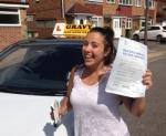 Donna (Bexleyheath) passed with Gravy Driving School