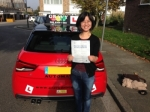 Jie (Sidcup) passed with Gravy Driving School