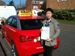 Jin (Sidcup) passed with Gravy Driving School