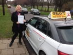 KAYLEIGH (ORPINGTON) passed with Gravy Driving School