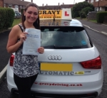 Kirsty (Sidcup) passed with Gravy Driving School