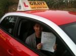 MATT (SIDCUP) passed with Gravy Driving School