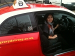Michelle C. (SIDCUP) passed with Gravy Driving School