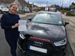 Nicola (Erith) passed with Gravy Driving School