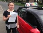Rosie (BELVEDERE) passed with Gravy Driving School