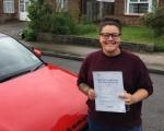 ZAINA (ORPINGTON) passed with Gravy Driving School