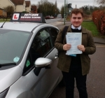 Alex Cross passed with Hitchin Driving School