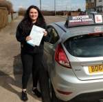 Jessica Johnson passed with Hitchin Driving School