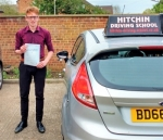 Zac Laycock passed with Hitchin Driving School