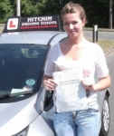 Cindy Brown passed with Hitchin Driving School