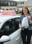 Ellie Harper passed with Horsforth Driving School