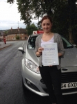 Nicola Marshall passed with Horsforth Driving School