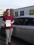 Alex Wells passed with Horsforth Driving School