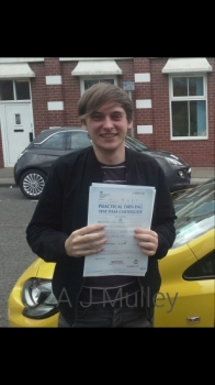 A J passed on 10417 with Garry Arrowsmith Well done