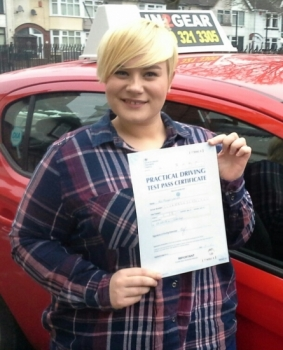 Abbey passed on 3318 with Garry Arrowsmith Well done
