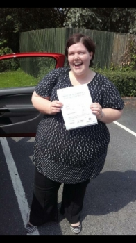 Claire passed on 20716 with Phil Hudson Well done