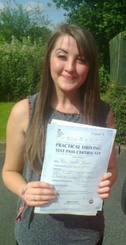 Harriet Mauger passed 160614 with Phil Hudson Well done <br />