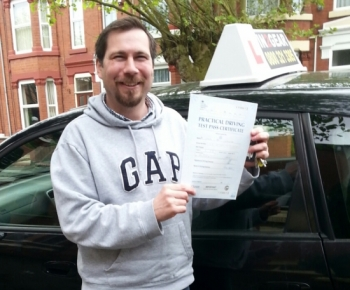 Steve passed with Martin Garfoot on 22514<br /> <br /> <br /> <br /> Steve has been living here for a while away from his homeland in USA and decided he needed a UK driving licence <br /> <br /> <br /> <br /> Martin says You did great Steve A super first-time pass very well done Im sure youre proud of your achievement today Happy motoring Best wishes Martin