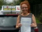 Cora Monaghan passed with IN2GEAR Stafford