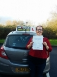 Sadie Clarke passed with IN2GEAR Stafford