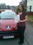 Jasmine passed with Independent Driving School