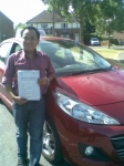 Kewal passed with Independent Driving School